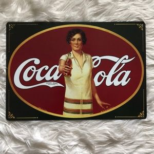 Coca-Cola Vintage Print Tin Sign